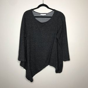Bryn Walker Assymetric dark gray sweatshirt top XL